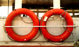 Liny ratowniczej wyposażenie w morzu Zdjęcie Stock