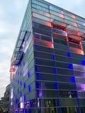 Linz/Österreich - 26. September 2015: Fassade des ARS-Electronica stockbilder