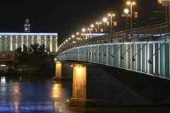 Linz alla notte Fotografie Stock