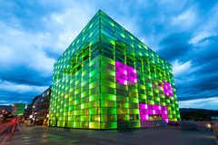 Ars Electronica Center, Linz. LINZ, AUSTRIA - MAY 14, 2017: The Ars Electronica Center or AEC is a center for electronic arts run by Ars Electronica located in Royalty Free Stock Photos