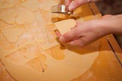 Linz cakes preparation Stock Photography