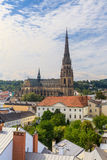 Linz Cityscape with New Cathedral, Austria Stock Photos