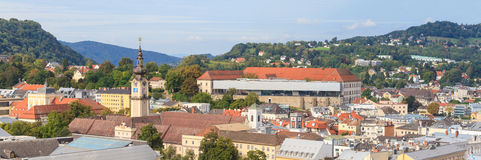Linz Cityscape with Schlossmuseum, Austria Stock Photography