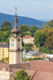 Linz Cityscape with Tower of Upper Austrian Parliament, Austria Stock Images