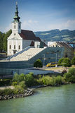 Linz and Danube Stock Photos