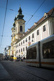 Linz gataplats royaltyfria bilder