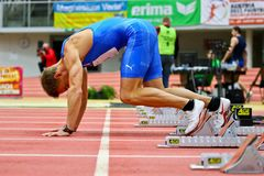 Linz Indoor Track and Field Meeting Royalty Free Stock Photos