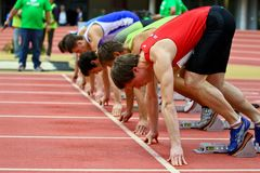 Linz Indoor Track and Field Meeting Royalty Free Stock Photo