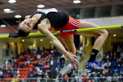 Linz Indoor Track and Field Meeting Stock Photography