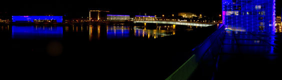 Linz by night Royalty Free Stock Photography