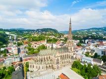Linz ny domkyrka, Österrike arkivbild