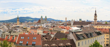 Linz, Panorama of old city, Austria Royalty Free Stock Photography