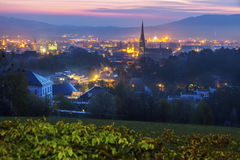 Linz panorama at sunrise Royalty Free Stock Photography
