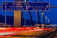Linz, upper austria, voestbr�¼cke Stock Image