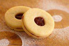 Linzer曲奇饼 库存图片
