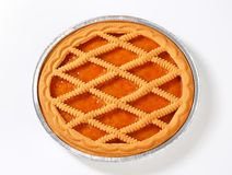 Linzer apricot tart Stock Photo