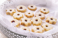 Linzer Augen - Christmas Cookies Stock Photography