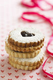 Linzer Augen cookies Royalty Free Stock Photography