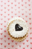 Linzer Augen cookies Stock Photo