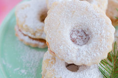 Linzer cookies Royalty Free Stock Image
