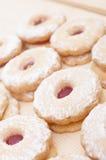 Linzer Cookies Stock Image