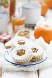Linzer cookies with jam Royalty Free Stock Image
