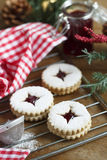 Linzer cutout cookies Stock Photo