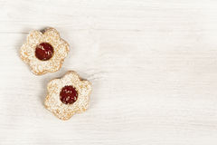 Linzer eyes white background Royalty Free Stock Photos