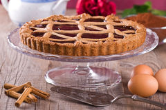 Linzer torte. Close up of a Linzer torte Stock Image