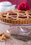 Linzer torte. Close up of a Linzer torte Stock Images