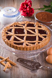 Linzer torte. Perspective of a Linzer torte Stock Photo