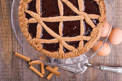 Linzer torte. Detail of a Linzer torte Stock Images