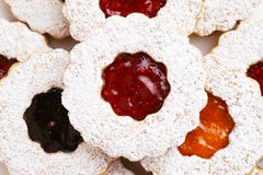Linzer Torte Almond Cookies with Preserves Royalty Free Stock Photo