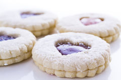 Linzer Torte Cookies Royalty Free Stock Photos