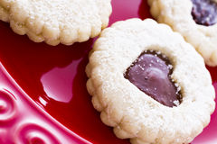 Linzer Torte Cookies Stock Photos