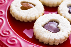 Linzer Torte Cookies Royalty Free Stock Images