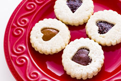 Linzer Torte Cookies Royalty Free Stock Photos