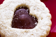 Linzer Torte Cookies Stock Photo
