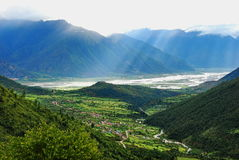 Linzhi Niyang Valley Stock Images
