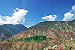 Linzhistad van Tibet stock afbeelding
