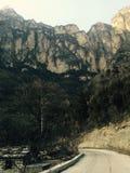 Linzhou, China, diep in een berg met zeldzame menselijke sporen stock foto