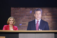 Linzie Janis presents SAP CEO Bill McDermott Royalty Free Stock Images