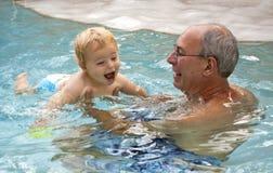 Lição da nadada Imagem de Stock