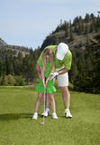 Lição de golfe Fotos de Stock Royalty Free