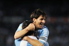 Lio Messi die een doel vieren royalty-vrije stock afbeelding