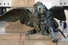 Lion à ailes Photographie stock libre de droits