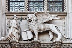 Lion à ailes Image libre de droits