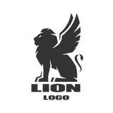Lion à ailes, logo, symbole Photographie stock libre de droits