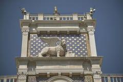 Lion à ailes vénitien image stock