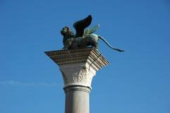 Lion à ailes vénitien célèbre images libres de droits